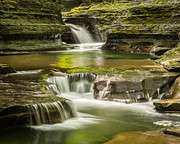 Buttermilk Falls Framed Prints - Upper Buttermilk Gorge Trail Framed Print by John Naegely