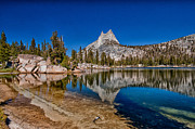 Nevada Framed Prints - Upper Cathedral Lake Framed Print by Cat Connor