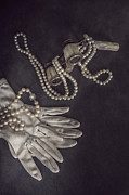 Opera Gloves Photo Metal Prints - Upper Class Metal Print by Joana Kruse
