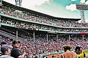 Red Sox Metal Prints - Upper Deck Metal Print by Dennis Coates