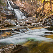 Light Rays Prints - Upper Kent Falls Print by Bill  Wakeley
