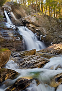 Sun Rays Photo Framed Prints - Upper Kent Falls II Framed Print by Bill  Wakeley