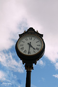 Pretty Clouds Prints - Upper Lake Clock Print by Cheryl Young