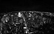 Manhatan Prints - Upper Manhattan Night New York City Skyline Cityscape View  Print by Joe Fox