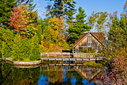 Color Change Posters - Upper Peninsula Reflection Poster by John McGraw