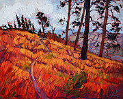 Zion National Park Painting Prints - Upper Plateau Print by Erin Hanson