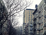 Fire Escapes Posters - Upper West Side Winter Poster by Sarah Loft