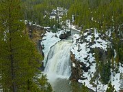 Yellowstone Mixed Media - Upper Yellowstone Falls - Yellowstone National Park by Photography Moments - Sandi