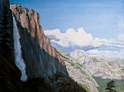 Half Dome Paintings - Upper Yosemite Falls by Stephanie Pisula