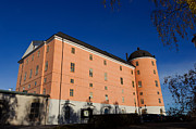 The Citadel Posters - Uppsala Castle - Sweden - with deep blue sky Poster by David Hill