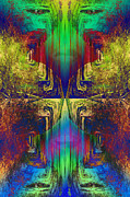 Meditative Digital Art - Upside Down or Right Side Up by Atousa Raissyan