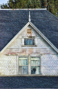 Haunted House Art - Upstairs Windows in Old House by Jill Battaglia
