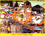 Amusements Prints - Upstate New York Fair Print by Beth Saffer