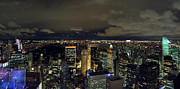 Central Park Photos - Uptown New York and Central Park at night by Gary Eason