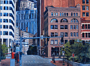 Boston Painting Originals - Urban Canyon #3 Congress Street by Deb Putnam