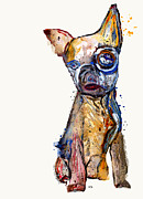 Chihuahua Abstract Art Posters - Urban Chihuahua Poster by Brian Buckley