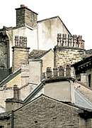 Chimneys Posters - Urban Chimneys Poster by Jon Blumenaus