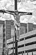 Kathleen K Parker - Urban Crucifixion 2- black and white