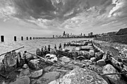 Chicago Skyline Black White Posters - Urban Decay Poster by Daniel Chen