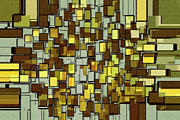 Abstract Art - Urban Dwellings No 1 by Ben and Raisa Gertsberg
