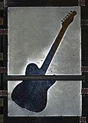 Autographed Prints - Urban Guitar-RA Print by Renee Anderson