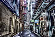 Street Pyrography Metal Prints - Urban Jungle - Melbourne Metal Print by David Tomek