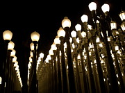 Installation Art Metal Prints - Urban Light at-LACMA Metal Print by Maureen J Haldeman