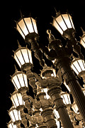 Lightpole Framed Prints - Urban Lights 1 Framed Print by David Doucot