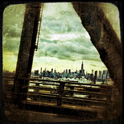 Nyc Digital Art Metal Prints - Urban Manhattan Metal Print by Natasha Marco