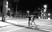 Crosswalk Photos - Urban Nightscape by Lin Haring