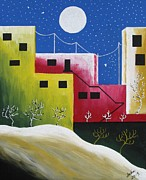 Outsider Art Paintings - Urban Oasis by Heidi Moss
