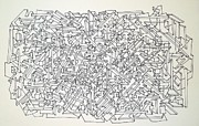 Pen And Ink Drawing Drawings - Urban Planning by Nancy Kane Chapman