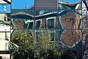Old House Photographs Metal Prints - Urban Reflections Madrid Metal Print by Frank Tschakert