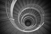 urban spiral - gray II Print by Hannes Cmarits