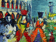 Mona Edulescu Paintings - Urban Story - The Carnival by EMONA Art