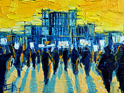 Protest Painting Prints - Urban Story - The Romanian Revolution Print by EMONA Art