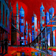 Urban Vision - City Of The Future Print by Mona Edulesco