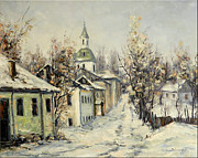 Romania Paintings - Urban Winter by Petrica Sincu