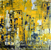 Municipal Painting Prints - Urban Yellow Print by Katie Black