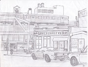 Urban Scenes Drawings - Urbania 95 by Craig Bass