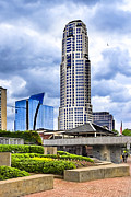 Dramatic Skies Framed Prints - Urbania - Atlanta Buckhead Skyline Framed Print by Mark E Tisdale