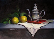 Silver Tea Pot Paintings - Uris Pot by Wendy Gordin
