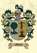 Military Families Prints - Urizar Coat of Arms Original Art Print by Arco Montufar