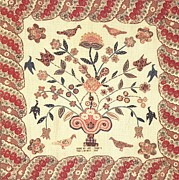 New York Tapestries - Textiles - Urn of Flowers with Birds by Ann Daggs