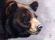 Animal Mixed Media Metal Prints - Ursa Major Metal Print by J W Baker