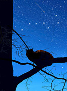Winter Scene Digital Art Prints - Ursa Major The Big Dipper Print by Kathleen Horner