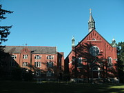 Arcadia Photo Prints - Ursuline Academy in Blue Sky Print by Kip DeVore