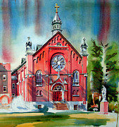 Watercolour Mixed Media Originals - Ursuline Academy Sanctuary by Kip DeVore