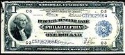 Benjamin Franklin Painting Posters - U.S. 1918 one dollar Federal Reserve Note  Poster by Lanjee Chee