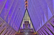 Colorado Springs Prints - US Air Force Academy Chapel Organ Print by David Bearden